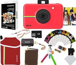 Polaroid Snap Instant Camera Red 2x3 Zink Paper 30 Pack Neop