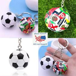 Soccer Ball Football World Cup Countries Charm Keychain Pend