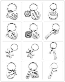 Stainless Steel Keychain Handmade Carve Letters & Pattern Ta