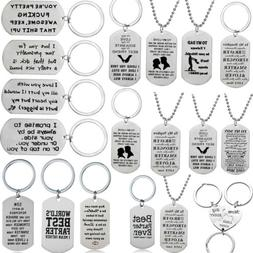 SON Daughter Military Style Army Dog Tag Stainless Steel Pen