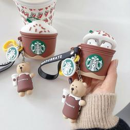 Starbucks Frappuccino Cover Skin CUTE 3D Case for Apple Airp
