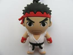 Street Fighter NEW Ryu Blind Bag Clip Figural Key Chain Keyc