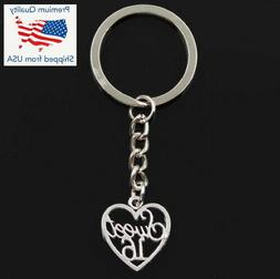 Sweet 16 Sixteen Heart Remember Forever Daughter Keychain Pa