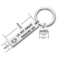 THANKS FOR ALL THE ORGASMS Stainless Steel Key Chain Keyring