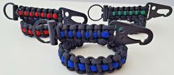 Thin Line Paracord Bracelet & Keychain Pack! Survival Tactic
