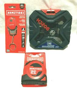 TOOL LOT - BOSCH DRILL DRIVER SET / CRAFTSMAN TAPE MEASURE /