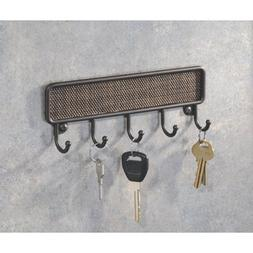 InterDesign Twillo Key Rack Organizer for Entryway, Kitchen,