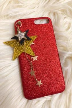 Twinkle Case For Iphone 7 8 Plus With Stars Keychain