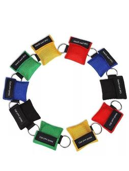 TWO-10-Pack Assortment CPR Mask Key Chain Kit Emergency CPR