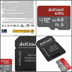 SanDisk Ultra 64GB microSDXC UHS-I card with Adapter-100MB/s