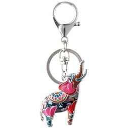 Unique Enamel Lucky Elephant Key Chains for Men and women