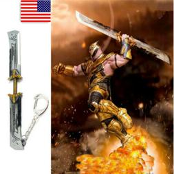 US! Avengers Endgame Thanos Arms Keychain Double edged Sword