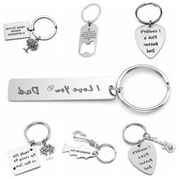 US Letter Carved Keyring Gift For Father Friend Stainless St