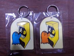 VINTAGE 1980's PAC MAN PACMAN VIDEO ARCADE GAME KEY CHAIN KE