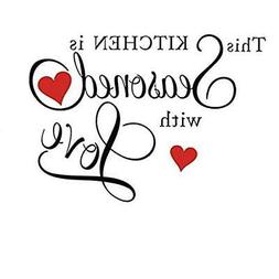 Picniva This Kitchen is Seasoned with Love Wall Quote Sticke