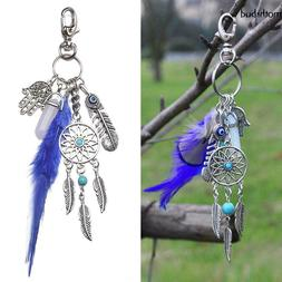 women fashion key chains dreamcatcher design keyring