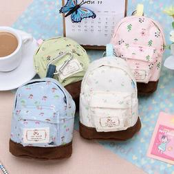 Women Mini Backpack Flower Coin Bag Wallet Hand Pouch Purse