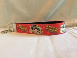 "Wonder Woman #11 Inspired Key Fob Wristlet Key Chain 1"" with"