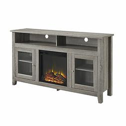 """W. Designs 58"""" Wood Highboy Fireplace TV Stand"""