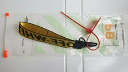Yellow Off-White Inspired Industrial Cell Phone Strap 10.5""